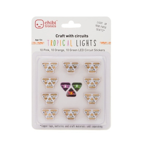 Chibitronics TROPICAL LED CIRCUIT LIGHTS Stickers 092222 zoom image