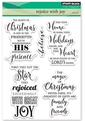Penny Black Clear Stamps REJOICE WITH JOY 30-384 zoom image