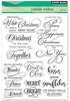 Penny Black Clear Stamps YULETIDE WISHES 30-382 zoom image