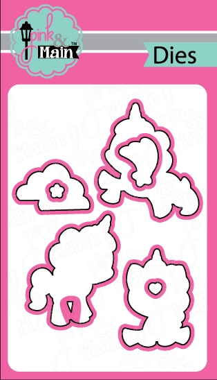 Pink and Main MAGICAL UNICORNS Coordinating Die Set PNM044 zoom image