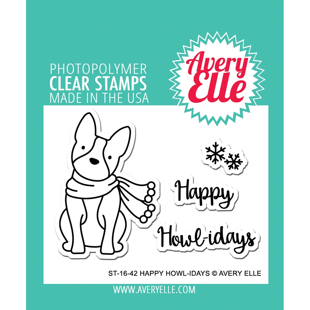 Avery Elle Clear Stamps HAPPY HOWL-IDAYS Set ST-16-42 zoom image