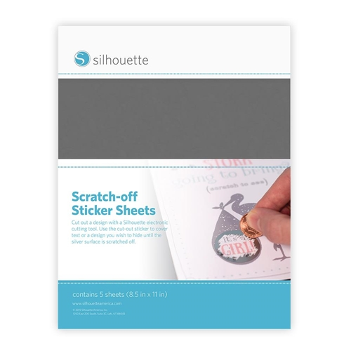 Silhouette SILVER Scratch Off Sticker Sheets 01909 Preview Image