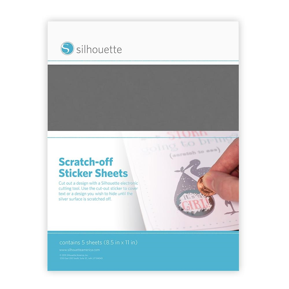 Silhouette SILVER Scratch Off Sticker Sheets 01909 zoom image