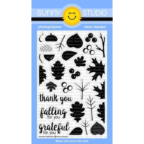 Sunny Studio AUTUMN SPLENDOR Clear Stamp Set SSCL-139 * Preview Image