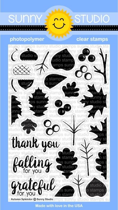 Sunny Studio AUTUMN SPLENDOR Clear Stamp Set SSCL-139 * zoom image