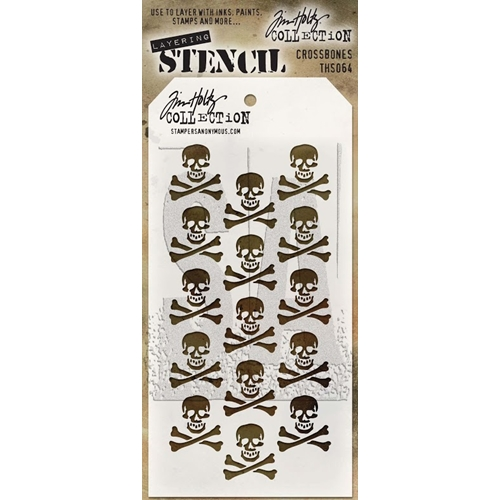 Tim Holtz Layering Stencil CROSSBONES THS064 Preview Image