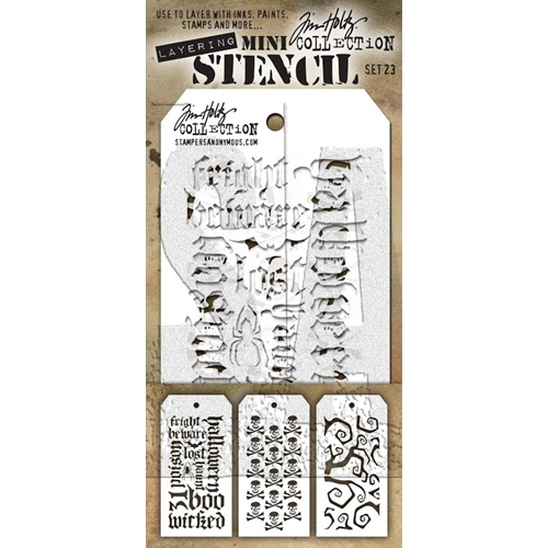 Tim Holtz MINI STENCIL SET 23 MST023 Preview Image