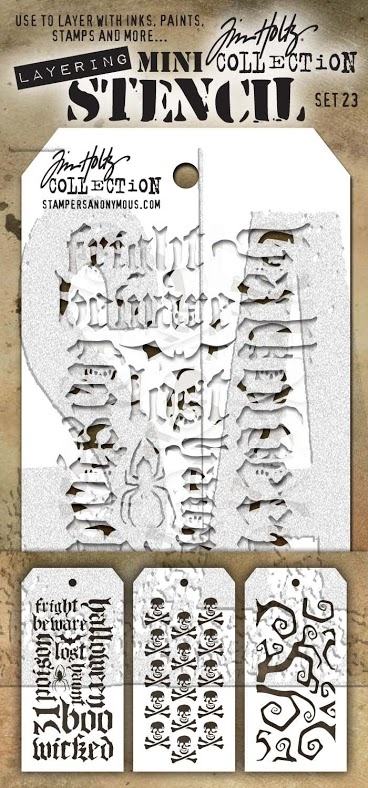 Tim Holtz MINI STENCIL SET 23 MST023 zoom image