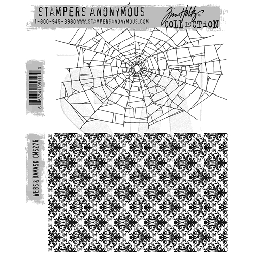 Tim Holtz Cling Rubber Stamps WEBS & DAMASK CMS276* Preview Image