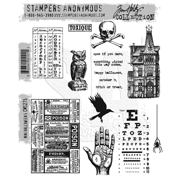 Tim Holtz Cling Rubber Stamps MINI HALLOWEEN #5 CMS275