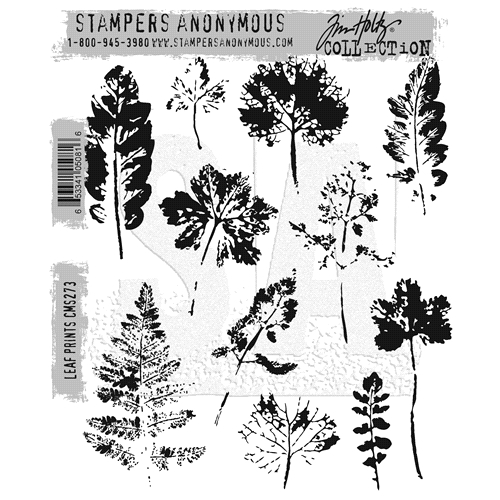 Tim Holtz Cling Rubber Stamps LEAF PRINTS CMS273 Preview Image