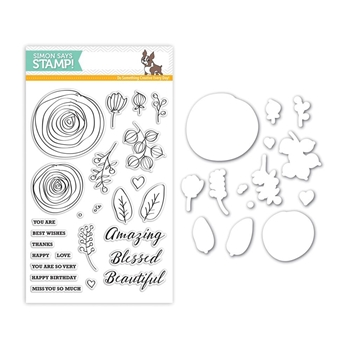 Simon Says Stamps and Dies SKETCH RANUNCULUS Set261SR