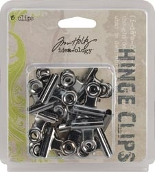 Tim Holtz Idea-ology HINGE CLIPS Nickel Metal Hardware TH92692