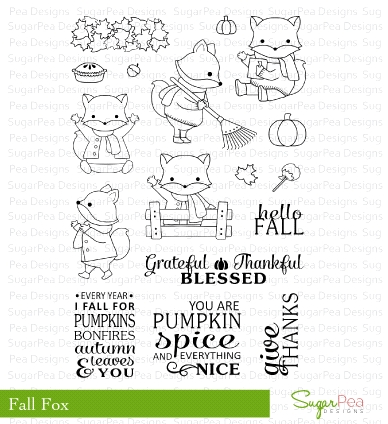 SugarPea Designs FALL FOX Clear Stamp Set SPD00154* zoom image
