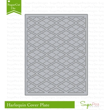 SugarPea Designs HARLEQUIN COVER PLATE SugarCuts Die SPD00153