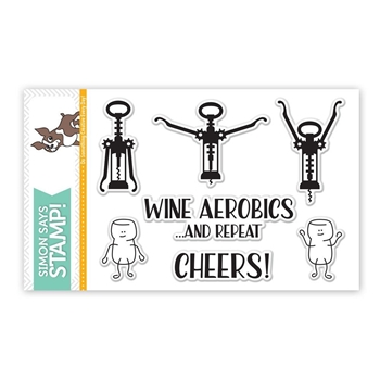Simon Says Clear Stamps WINE AEROBICS SSS101643