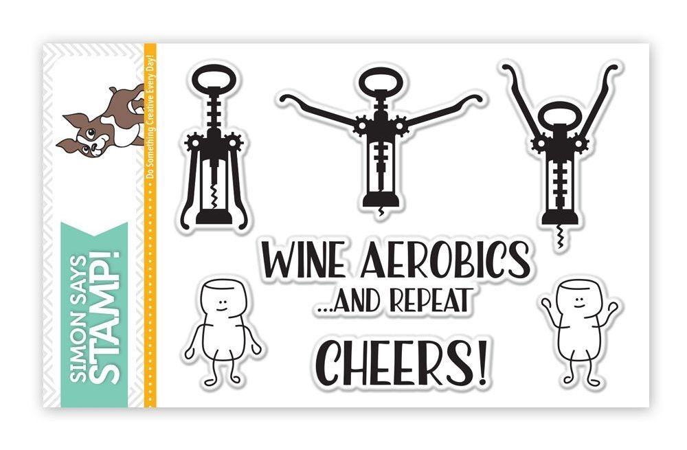 Simon Says Clear Stamps WINE AEROBICS SSS101643 zoom image