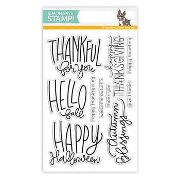 Simon Says Clear Stamps AUTUMN GREETINGS SSS101637