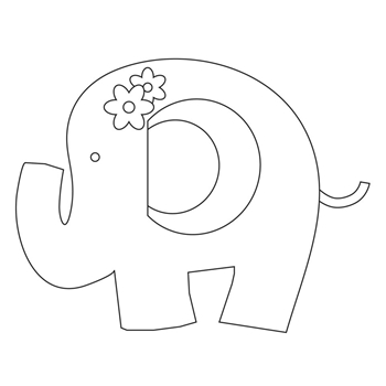 Simon Says Stamp PLUSH SWEET ELEPHANT Wafer Dies S385