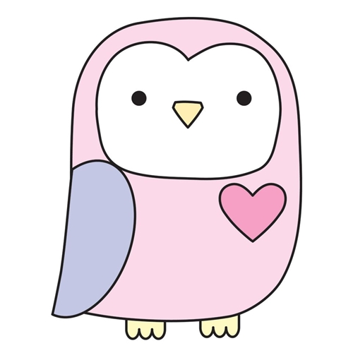 Simon Says Stamp PLUSH LITTLE OWL Wafer Dies S390 Preview Image