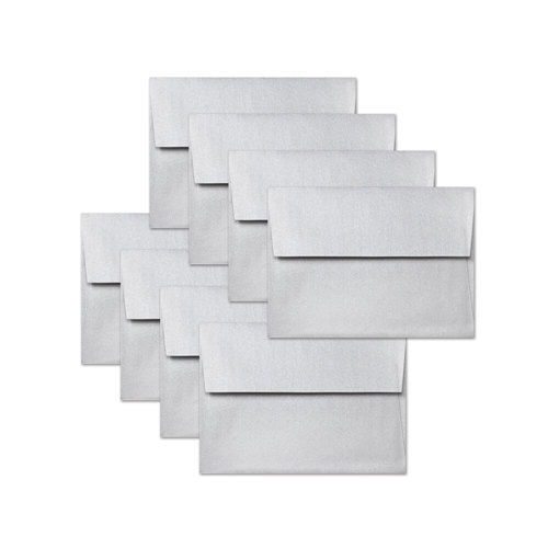 Simon's Exclusive Metallic Silver A2 Envelopes