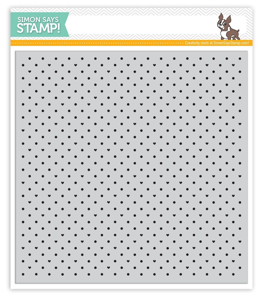 Simon Says Cling Stamps TINY DOTS AND HEARTS SSS101647 zoom image