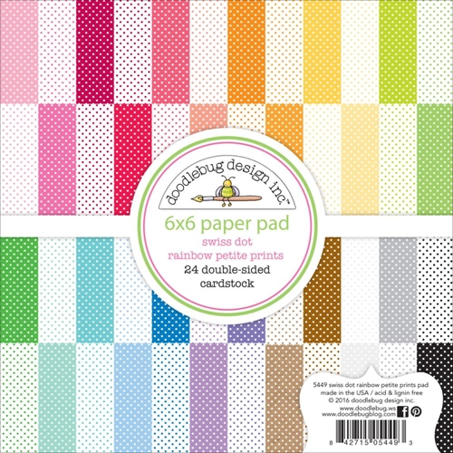 Doodlebug Swiss Dots 6x6 Paper Pack