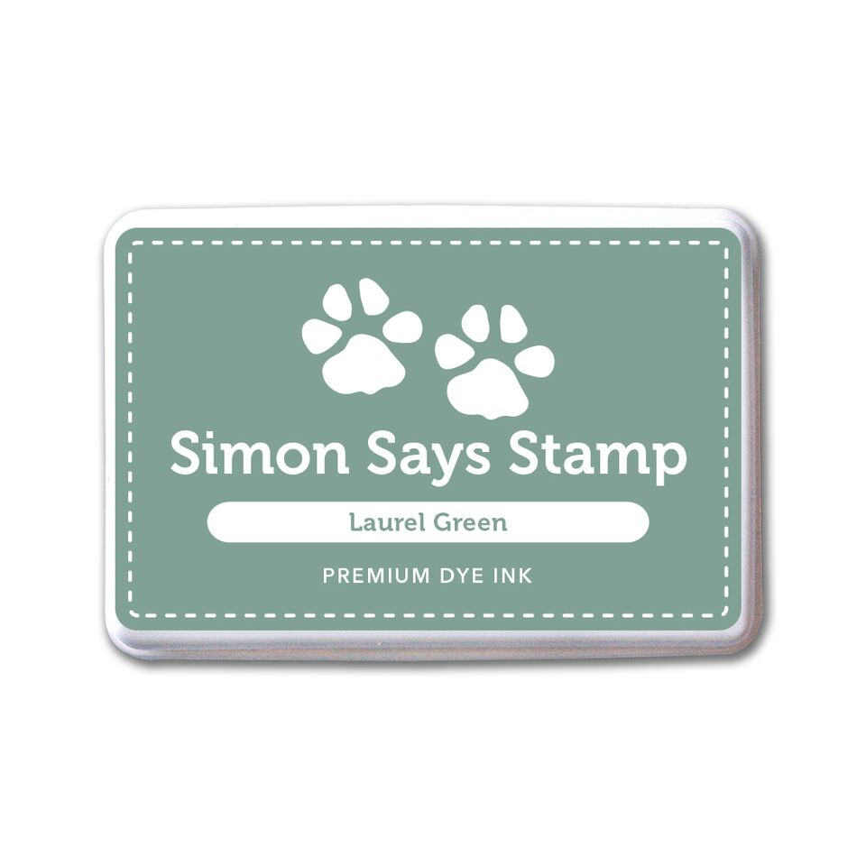 Simon Says Stamp Premium Dye Ink Pad LAUREL GREEN ink071