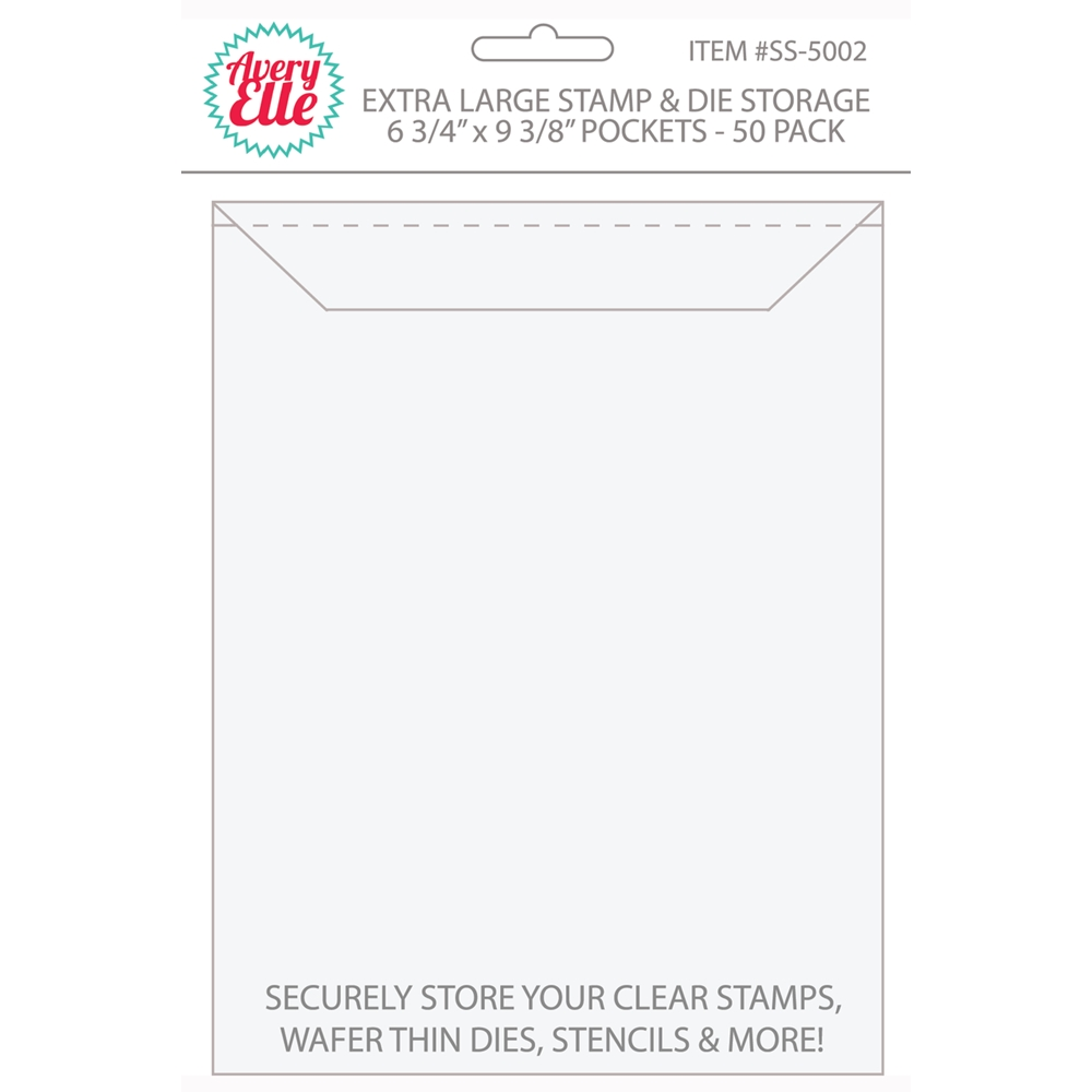 Avery Elle EXTRA LARGE Stamp and Die Storage Pockets 6.75 x 9.375 Set of 50 SS-5002 zoom image