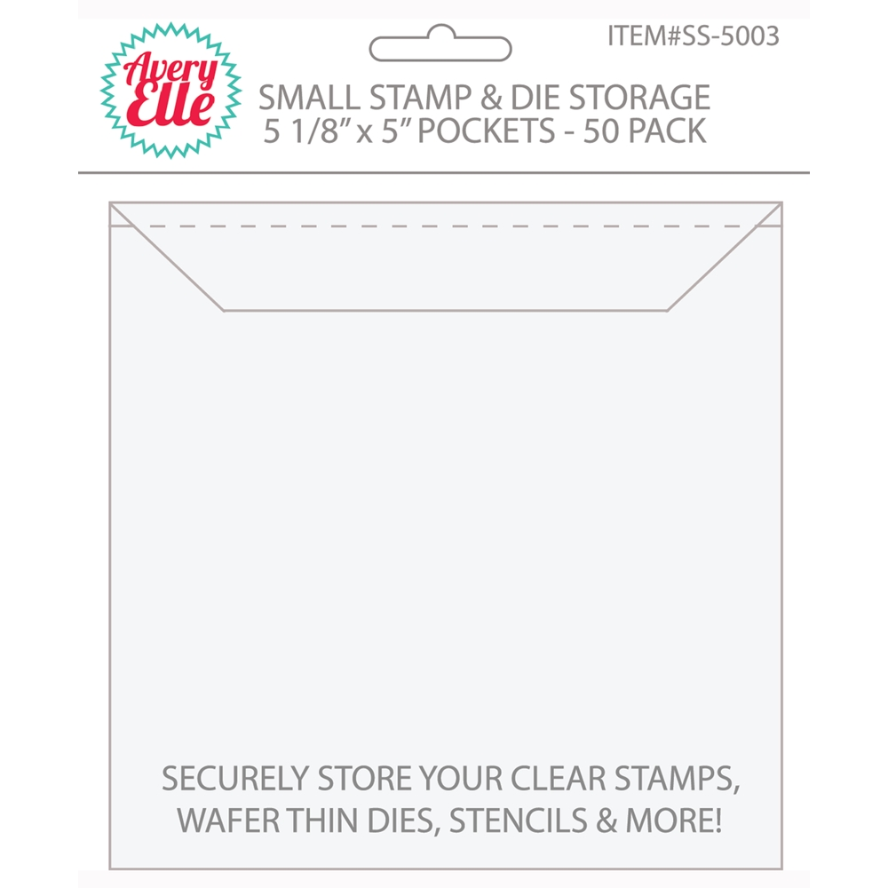 Avery Elle SMALL Stamp and Die Storage Pockets - 5.125 x 5 inches Set of 50 SS-5003 zoom image