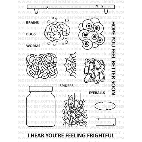 Clearly Besotted FEELING FRIGHTFUL Clear Stamp Set  Preview Image