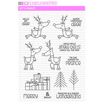 Clearly Besotted LET'S PRANCE Clear Stamp Set