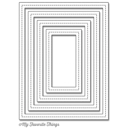 My Favorite Things SINGLE STITCH LINE RECTANGLE FRAMES Die-Namics MFT950 Preview Image