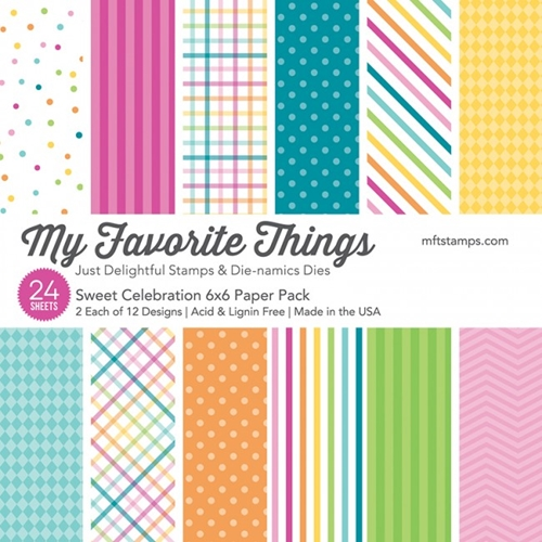 My Favorite Things SWEET CELEBRATION 6x6 Paper Pack 19989 Preview Image