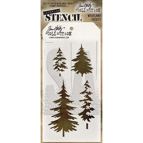 Tim Holtz Layering Stencil WOODLAND THS071 Preview Image