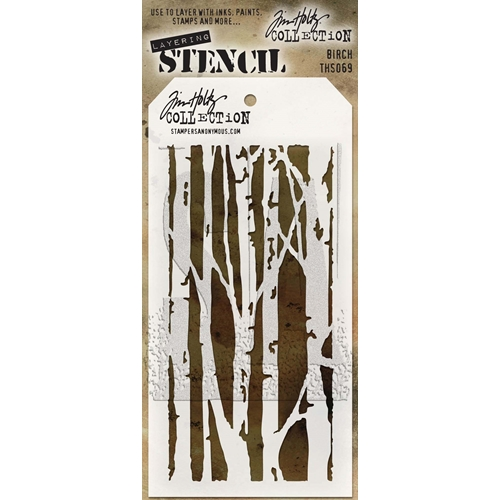 Tim Holtz Layering Stencil BIRCH THS069 Preview Image