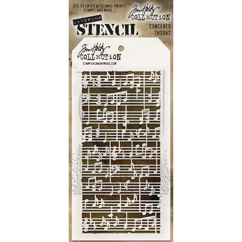 Tim Holtz Layering Stencil CONCERTO THS067 Preview Image