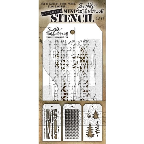 Tim Holtz MINI STENCIL SET 21 MST021 Preview Image