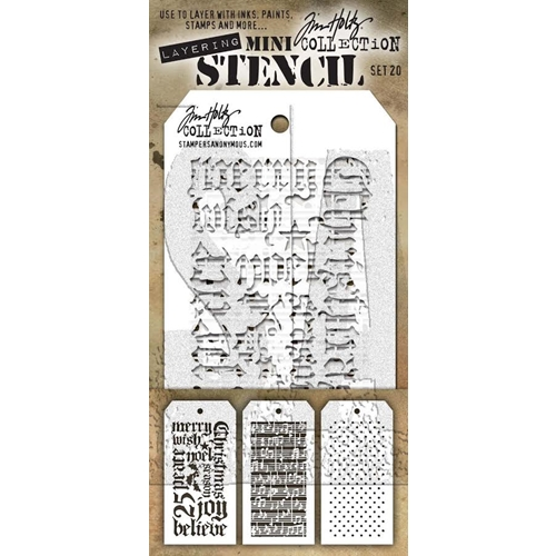 Tim Holtz MINI STENCIL SET 20 MST020 Preview Image