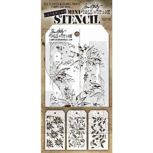 Tim Holtz MINI STENCIL SET 19 MST019 Preview Image