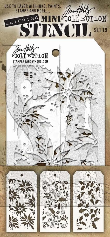 Tim Holtz MINI STENCIL SET 19 MST019 zoom image