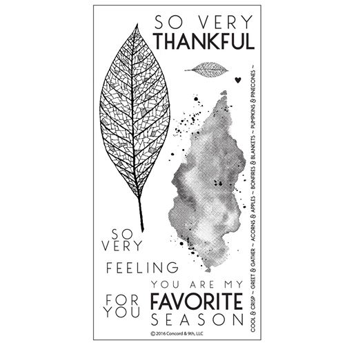 Concord & 9th LACE LEAF Clear Stamp Set 10123C9 Preview Image