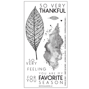 Concord & 9th LACE LEAF Clear Stamp Set 10123C9