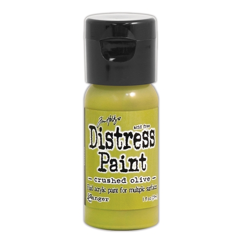 Tim Holtz Flip Top Distress Paint CRUSHED OLIVE Ranger TDF52999 Preview Image