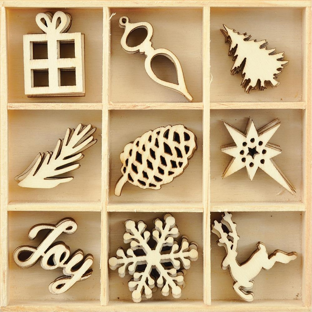 Kaisercraft JOY Wooden Shapes Flourish Pack FL583* zoom image