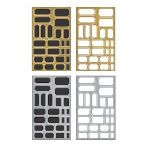 Tim Holtz Idea-ology LABELS Metallic Stickers TH93335* Preview Image