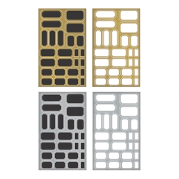 Tim Holtz Idea-ology LABELS Metallic Stickers TH93335*