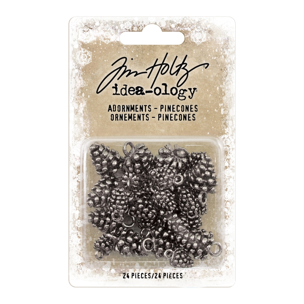 Tim Holtz Idea-ology PINECONES Adornments th93741 zoom image