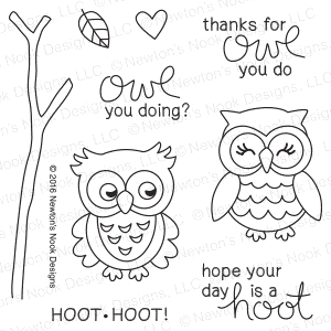 Newton's Nook Designs WHAT A HOOT Clear Stamp Set 20160904 zoom image