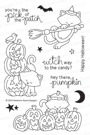 Newton's Nook Designs NEWTON'S BOO-TIFUL NIGHT Clear Stamp Set 20160902 zoom image